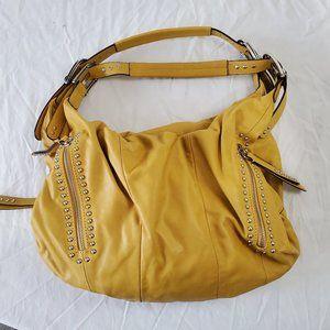 B Makowsky Yellow leather Handbag